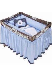 Enxoval Para Berço Desmontável I9 Baby 9 Peças Príncipe Azul