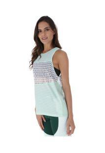 Camiseta Regata Puma Cosmic Tank - Feminina - Verde Claro/Branco