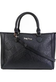 Bolsa Betty Boop Tiracolo Shopper Feminina - Feminino-Preto