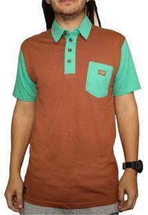 Camiseta Polo Blaze Supply Verde/Marrom