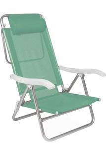 Cadeira Reclinável Sol De Verão Com Almofada Anis - Unissex-Verde Claro