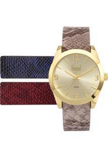 ca5b768aff3 ... Relógio Feminino Dumont Analógico Troca Pulseiras Du2036Lvk 2D Dourado