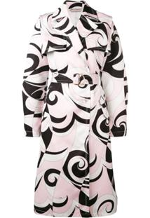 Emilio Pucci Trench Coat Estampado - Rosa