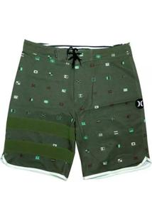 Bermuda Hurley Phanton Sea Worth Verde + Camisa Masculina - Masculino