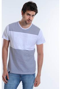 Camiseta Listrada Masculina Squadrow