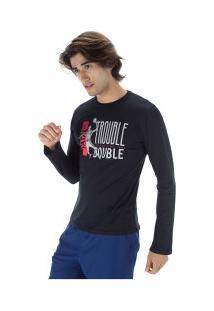 Camiseta Manga Longa Fatal Estampada 22239 - Masculina - Preto