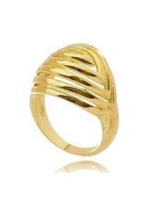Anel Liso Digital - Feminino-Dourado