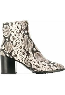 Tod'S Ankle Boot Com Estampa De Cobra - Neutro