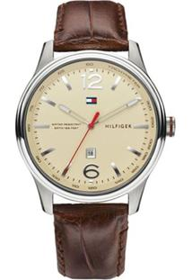 Relógio Tommy Hilfiger Masculino Couro Marrom - 1710315