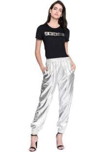 Camiseta M.Officer Basic Feminina - Feminino-Preto