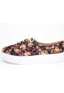 Tênis Flatform Quality Shoes Feminino 005 Floral 36