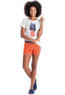 Short Doll Pineapple Laranja/P