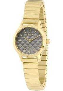 Relógio Condor Feminino Mini - Feminino-Dourado+Preto