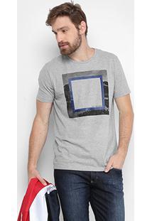 Camiseta Calvin Klein Quadrado Masculina - Masculino-Mescla