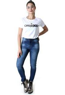 Calça Jeans Skinny Opera Rock 92 Feminina - Feminino-Azul