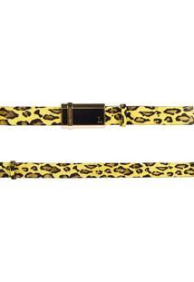 Cinto Lança Perfume Leather Lp Amarelo
