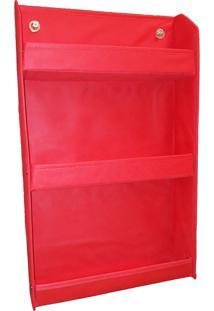 Revisteiro Prateleira Montessoriano Organibox - Vermelho - Vermelho - Dafiti