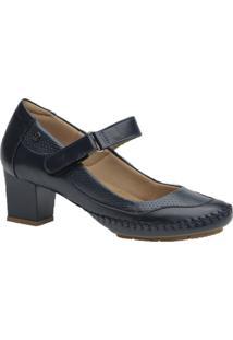 Sapato Feminino Salto Doctor Shoes 789 Marinho - Kanui