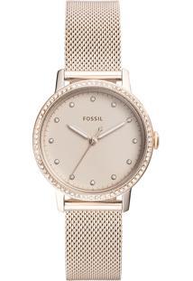 Relógio Analógico Fossil Feminino - Es4364/1Jn Rosê