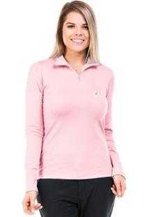 Camisa Térmica Para Frio Com Gola Alta Extreme Uv - Feminino-Rosa