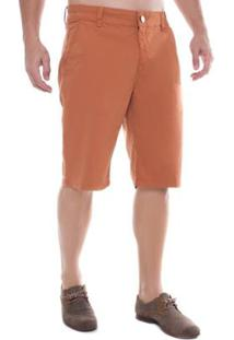 Bermuda Jeans Eventual Mid Drop Masculina - Masculino-Laranja