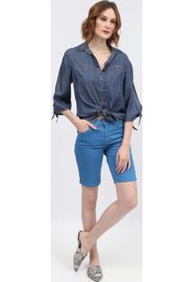 Camisa Jeans Lisa - Azul Escuroscalon