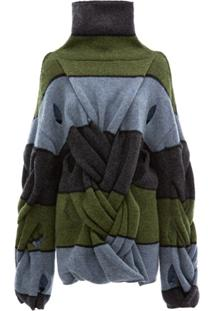 Jw Anderson Suéter Oversized Com Detalhe Torcido - Azul