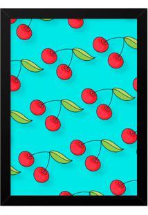 Quadro Adoraria A3 Hand Cherry Multicolorido