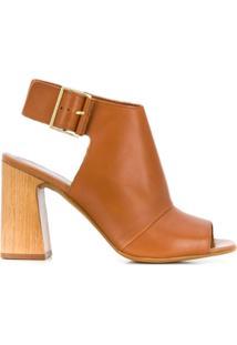 Carvela Ankle Boot Com Abertura Frontal - Marrom