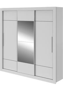 Guarda-Roupa Vicenza Com Espelho - 3 Portas - Branco