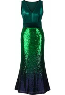 Vestido Longo Shine - Verde G