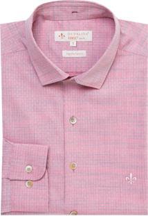 Camisa Ml Fio Tinto Maquinetada (Roxo Claro, 6)