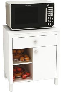 Balcão De Cozinha Tecno Mobili Bl3303 1 Porta E 1 Gaveta Com Fruteira - Branco
