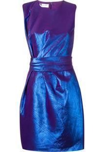 Lanvin Vestido De Seda - Roxo
