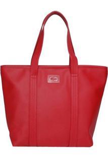 Bolsa Texturizada Com Tag - Vermelha - 28X40X13Cmlacoste