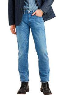 Calça Jeans Levis 514 Straight 4 Way Stretch Média Masculina - Masculino-Azul