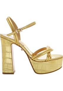 Sandália Meia Pata Golden Croco | Schutz