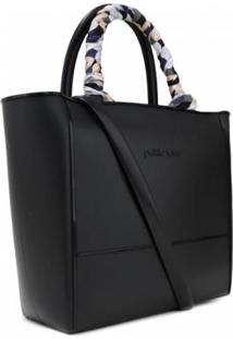 Bolsa Petite Jolie Daily Bag Lenço Feminina - Feminino-Preto
