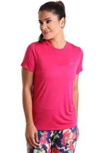Camiseta Líquido Basic Em Energy Feminina - Feminino-Rosa