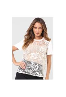 Camiseta Forum Tule Bordado Off-White