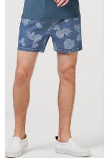 Shorts Curto Jeans Masculino Estampado