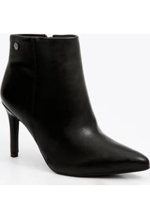 Bota Feminina Ankle Boot Bico Fino Vizzano