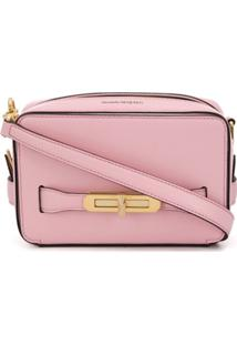 Alexander Mcqueen Small Lock Camera Bag - Rosa