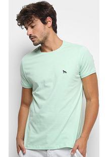 Camiseta Acostamento Lisa Masculina - Masculino-Verde