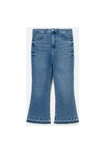 Calca Flare Cropped Jeans Lisa Curve & Plus Size | Ashua Curve E Plus Size | Azul | 46