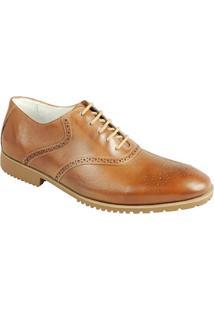 Sapato Social Masculino Oxford Sandro Moscoloni Bullock Marrom
