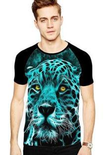 Camiseta Stompy Raglan Modelo 164 Masculina - Masculino-Preto