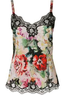 Dolce & Gabbana Blusa Com Renda Floral - Estampado