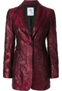 Boule De Neige Blazer Jacquard Com Textura - Vermelho