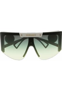 Versace Eyewear Óculos De Sol Oversized Medusa Halo - Branco